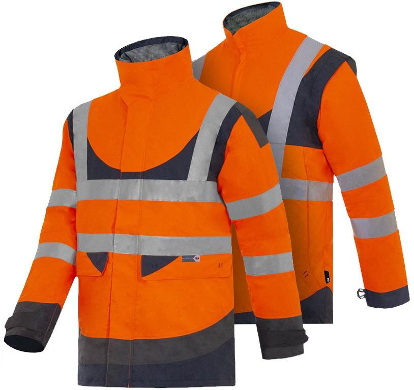 Se puede usar solo o con una chaqueta desmontable para una mayor protección contra el frío.